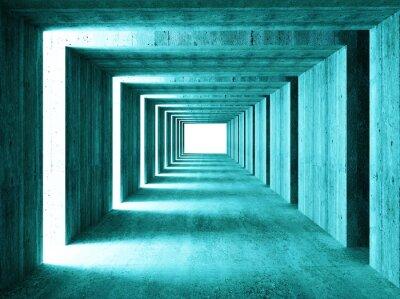 Fototapete feine Bild der 3d concretet Tunnel abstrakten Hintergrund