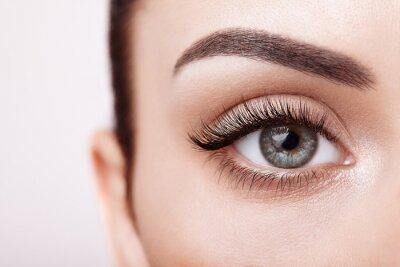 Fototapete Female eye with long false eyelashes