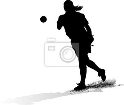 Female Softball Pitcher Silouette