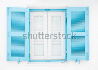 Fototapete Fenster im griechischen Stil
