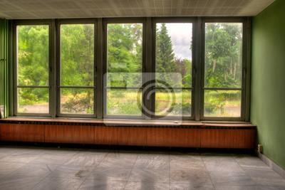 Fenster Mit Blick In Den Garten Fototapete Fototapeten Altbau