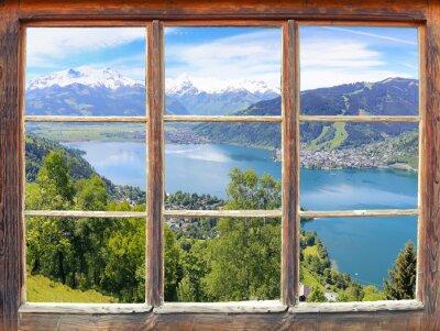 Fototapete Fensterblick Zell am See