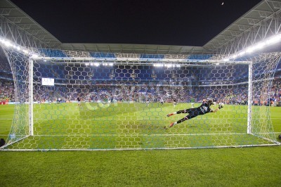 Fototapete Fernando Pacheco of RM in action at the Spanish Cup match between UE Cornella and Real Madrid, final score 1 - 4, on October 29, 2014, in Cornella, Barcelona, Spain
