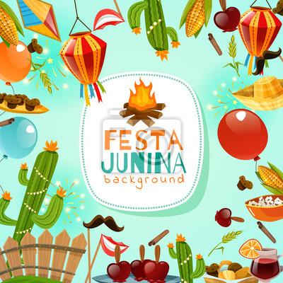 Fototapete Festa Junina Rahmen Hintergrund