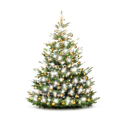Schleifen Weihnachtsbaum.Festlich Geschmückter Weihnachtsbaum Fototapete Fototapeten