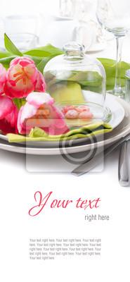 Festliche Tischdekoration Fruhling Bereit Vorlage Fototapete