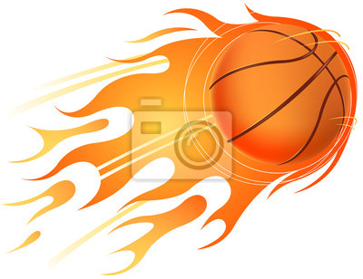 Feuer des Basketballs