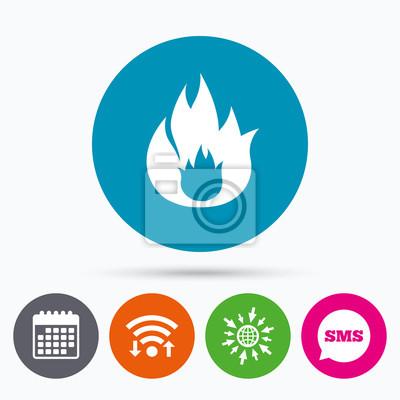 Feuer-flamme-zeichen-symbol. feuer-symbol. fototapete • fototapeten ...