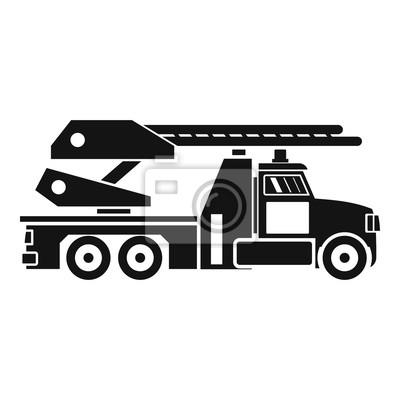 Feuer-motor-symbol. einfache darstellung der fire motor brot ...