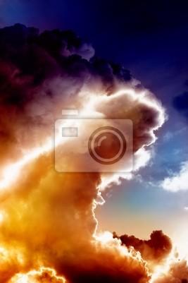 Feuer Welle in Himmel