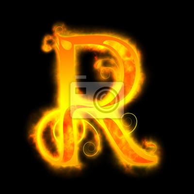 Feurig rot Buchstaben, R