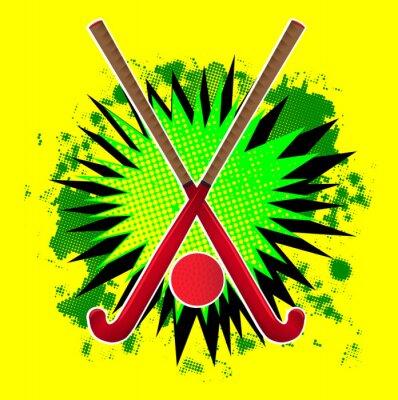 Field Hockey Stick And Ball Splash