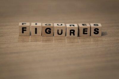 Figures in wooden cubes
