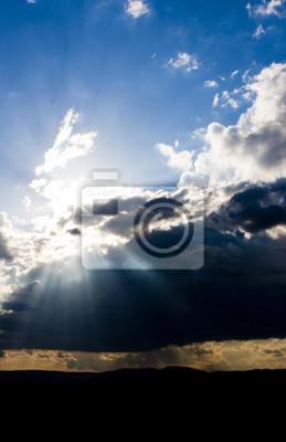 Filets de lumière dans le ciel