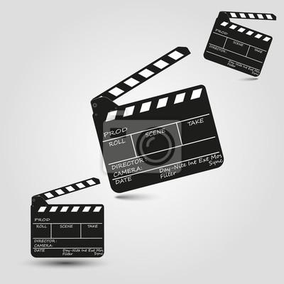 Film clapper brett eingestellt fototapete • fototapeten Klöppel ...