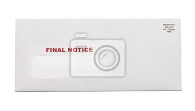 Final Notice Umschlag