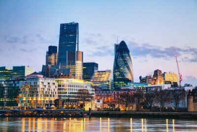 Fototapete Financial district of the City of London