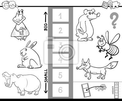 Finde das größte tier spiel farbe buch fototapete • fototapeten ...