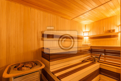 finnische sauna mit elektroheizung fototapete. Black Bedroom Furniture Sets. Home Design Ideas