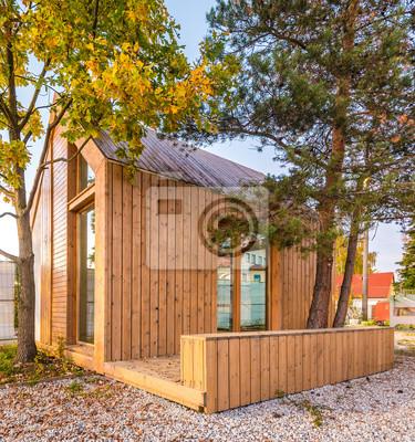 Finnisches Holzhauschen Fototapete Fototapeten Idylle Neubau