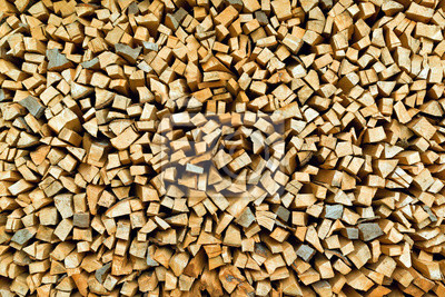 Fototapete Firewood logs stacked