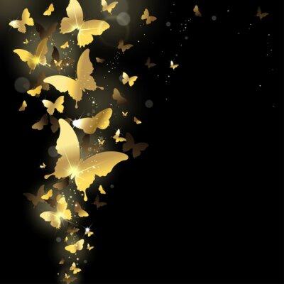 Fototapete fireworks of butterflies