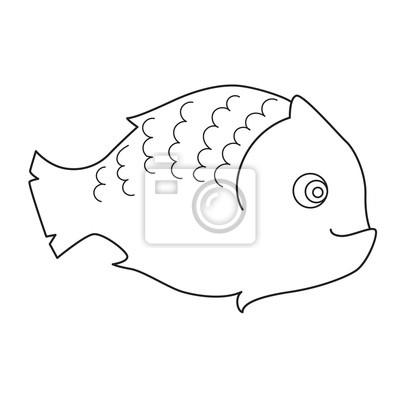 Fototapete Fisch Malvorlage Für Kinder