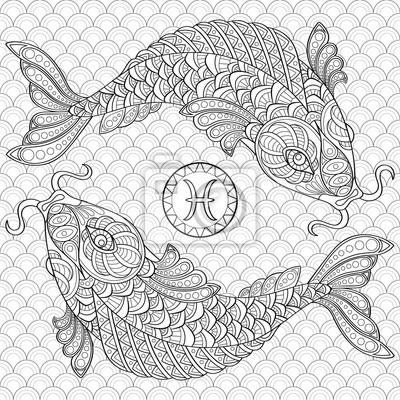 Fische. koifisch. chinesische karpfen. erwachsene antistress ...