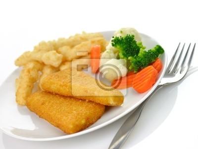 Fischfilets Abendessen