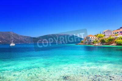 Fototapete Fiskardo Dorf, Kefalonia Insel, Griechenland