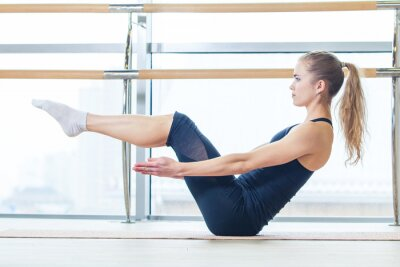 Fototapete fitness, sport, training and lifestyle concept -  woman doing