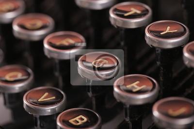 Flache Fokus vintage Schreibmaschinentasten