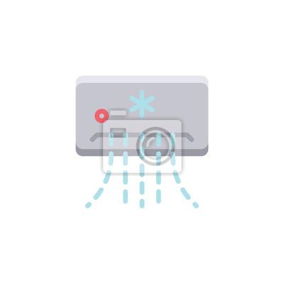 Flache ikone der split-system-klimaanlage, vektorzeichen, buntes ...