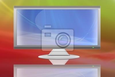 Fernseher Hintergrund flache lcd-fernseher flüssigkristallanzeige auf abstrakten