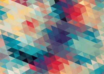 Fototapete flaches Design geometrische retro bunten Hintergrund