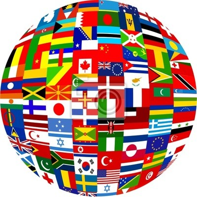 Flagge Globus