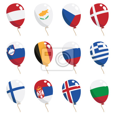 Flagge Luftballons