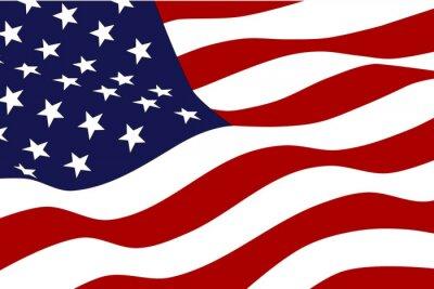 Fototapete Flagge von Amerika