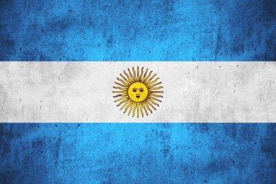 Fototapete Flagge von Argentinien