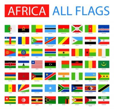 Fototapete Flaggen Von Afrika   Vektor Sammlung. Vector Satz Von Flachen  Afrikanischen Flaggen.