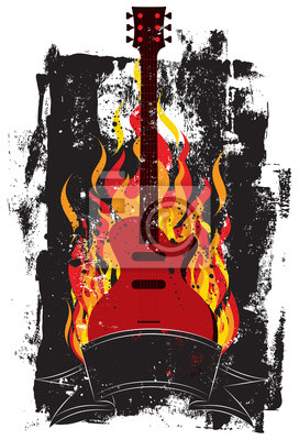 Flammende Gitarre