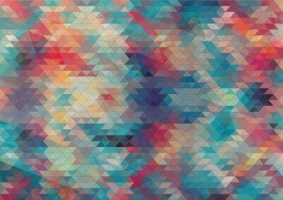 Fototapete flat design geometric colorful background