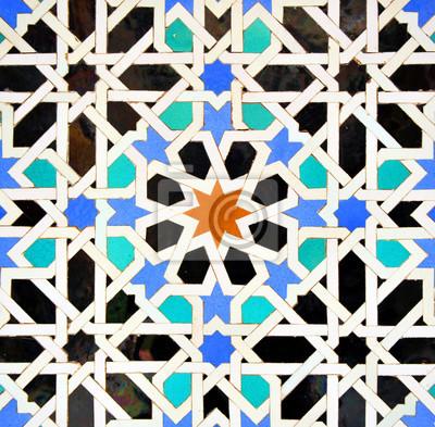 Fliesen Mosaik In Arabischen Stil Hintergrund Fototapete