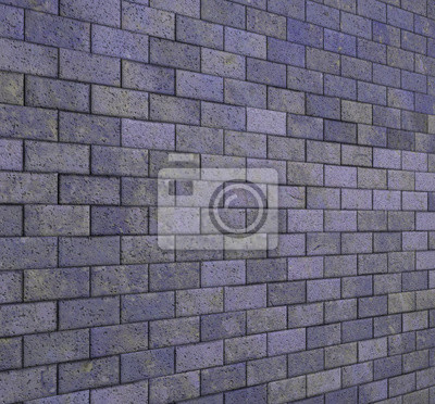 Fliesen Mosaik Wand Boden Lila Grunge Stein D Render Fototapete - Steinfliesen für den boden