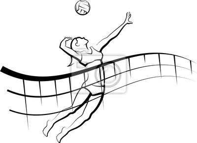 Fließendes Netz Beach Volleyball weiblich