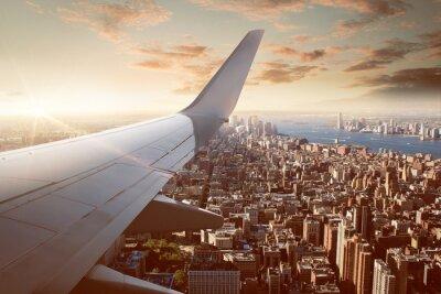 Fototapete Flight over New York City