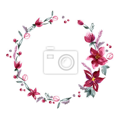 floral background mit handbemalten aquarell blumen einladung fototapete fototapeten nubes. Black Bedroom Furniture Sets. Home Design Ideas