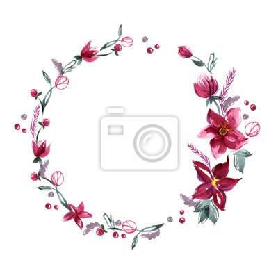 floral background mit handbemalten aquarell blumen einladung fototapete fototapeten nubes. Black Bedroom Furniture Sets. Home Design Ideas