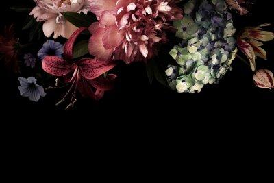 Fototapete Floral card. Vintage flowers.