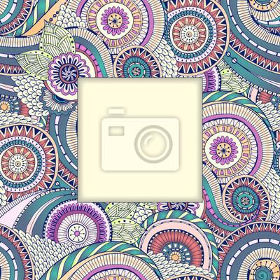 Floral ethnischen doodle Paisley-Hintergrund-Muster im Vektor.